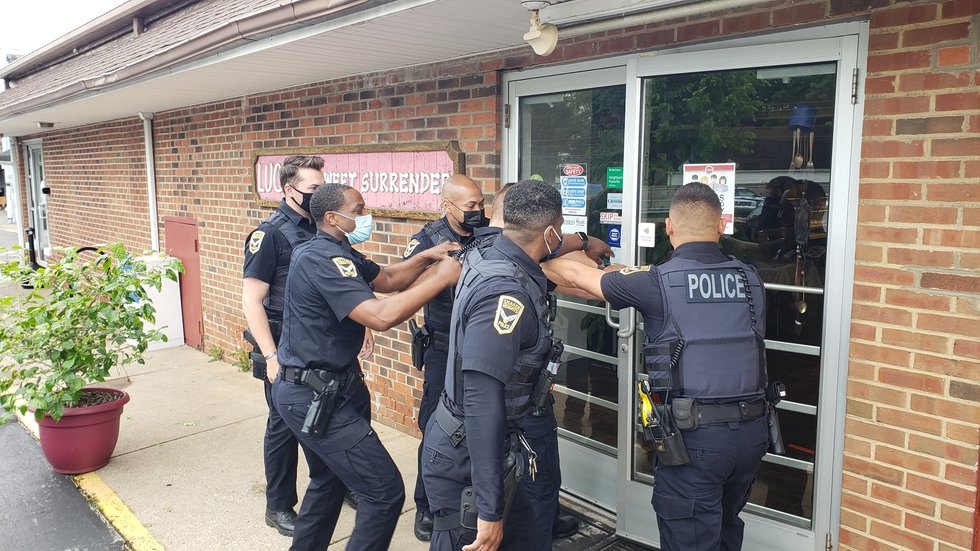 Shaker Heights Police 'apprehend their morning breakfast' at bakery for National Donut Day
