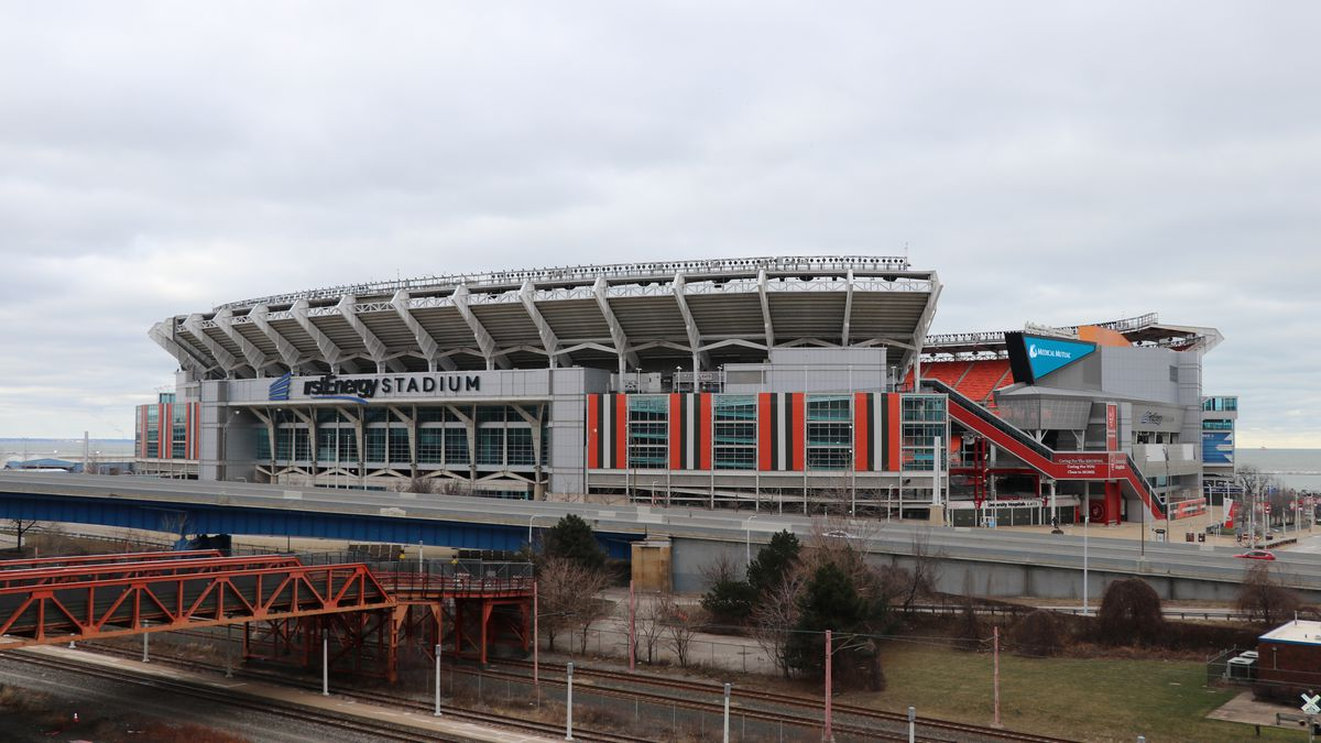 Cleveland Browns and First Energy Stadium. Jan. 29, 2021