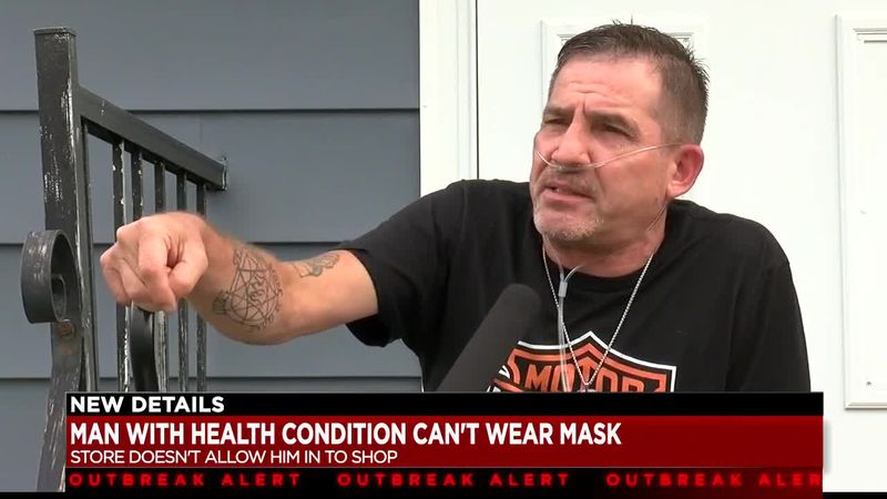 Man with health condition denied entry to Disney store because he can't wear mask