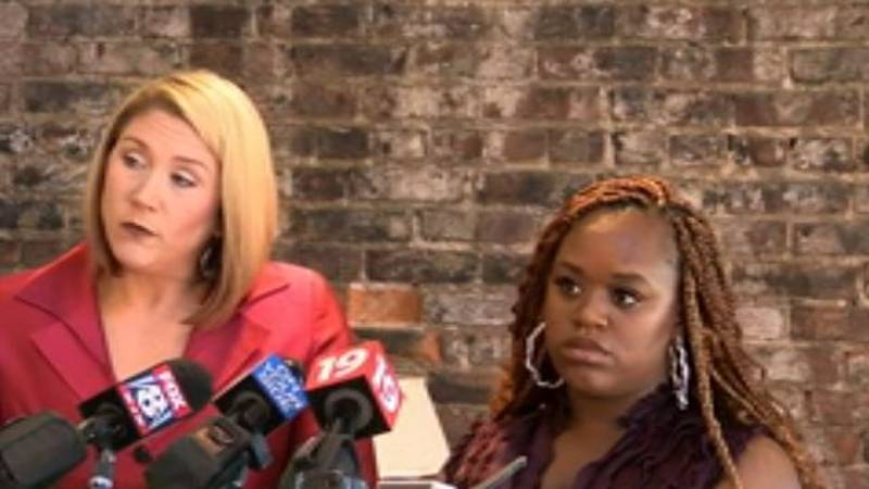 The woman seen on a video being assaulted and sprayed with pepper foam while in restraints at...