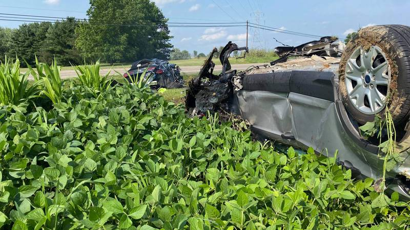 Four people died in a two-car crash late Thursday afternoon in Stark County.