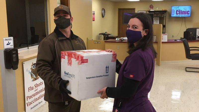 Medi-Wise Pharmacy in Newcomerstown receives its first shipment of the Johnson & Johnson...