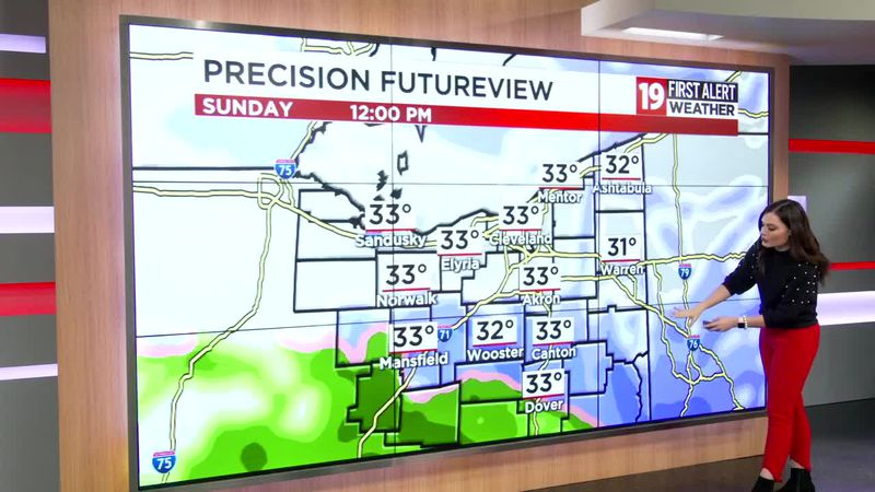 Northeast Ohio weather: Snow moves in Sunday, quiet and cold in the meantime