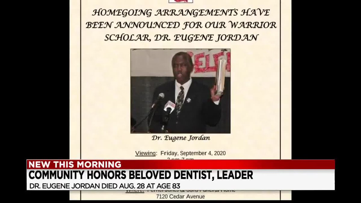 Dr. Eugene Jordan's funeral is Saturday, Sept. 5 at 9 a.m.  It's being held at Pernel Jones &...