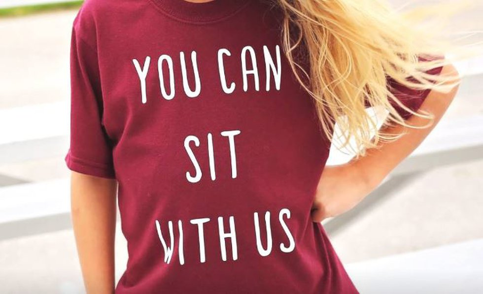 """Shirt: """"You can sit with us."""""""