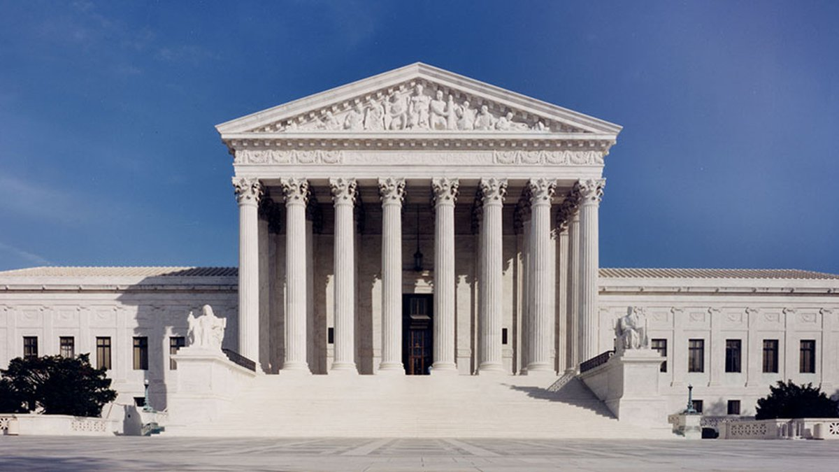 The U.S. Supreme Court building in Washington.