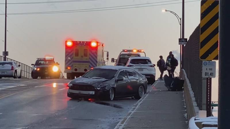 19 News cameras captured this chain reaction crash on East 150th Street in Cleveland