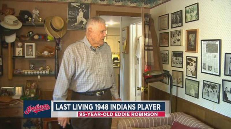 Eddie Robinson was the last living member of Cleveland's 1948 World Series title team