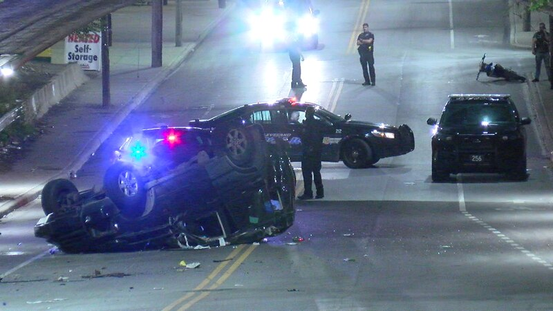 Teenager rushed to hospital after crash in Cleveland