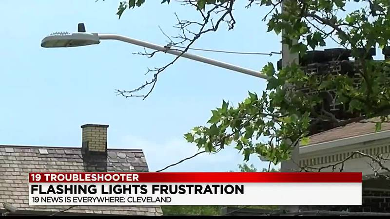 On Wednesday morning in Cleveland, a row of LED streetlights on Superior Avenue between E. 18th...