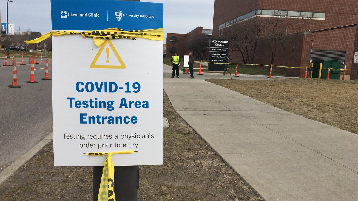 Cleveland Clinic seeing longer than usual wait times for testing.