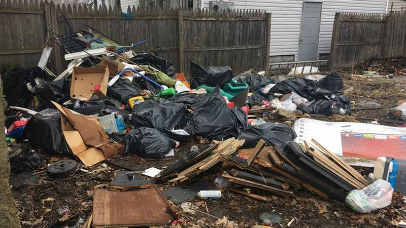 Illegal dumping of trash has become a problem for residents living near an abandoned home in...