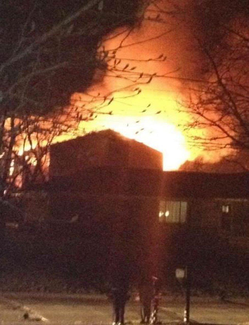 Fire crews are battling a large blaze in Brunswick. (Source: Viewer)