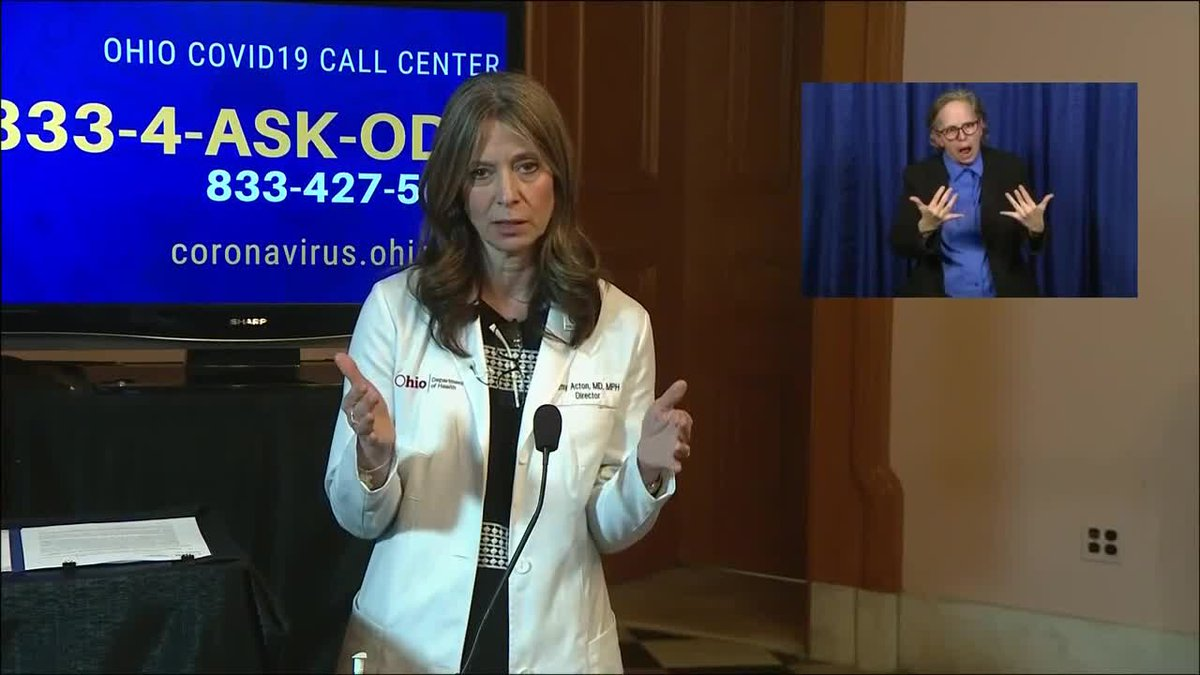 Dr. Acton says it's challenging to track how many individuals recover from COVID-19 because of...