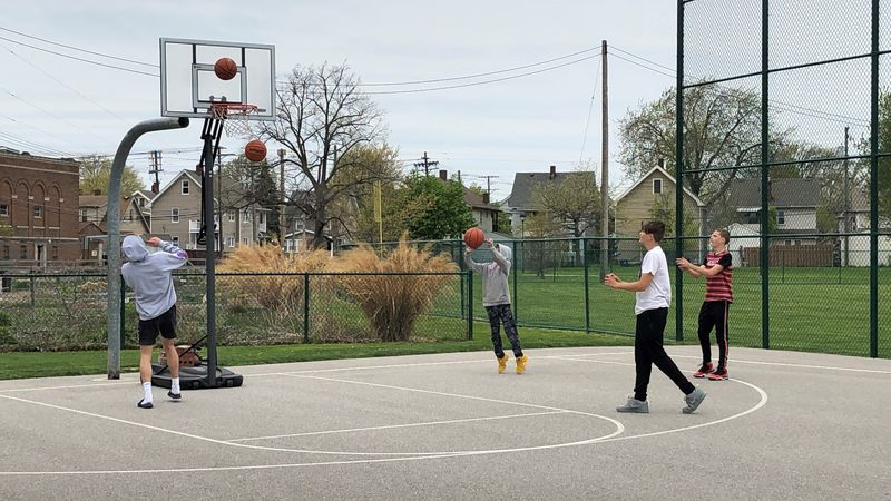 The hoops and backboards will be returned to Madison Park in Lakewood soon, according to a...