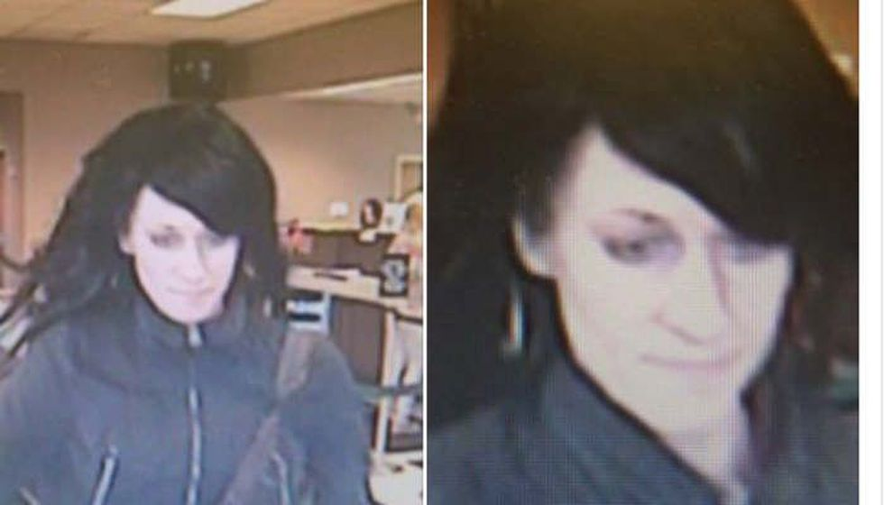 Close up surveillance picture of alleged bank robber. (Source: Conneaut police)