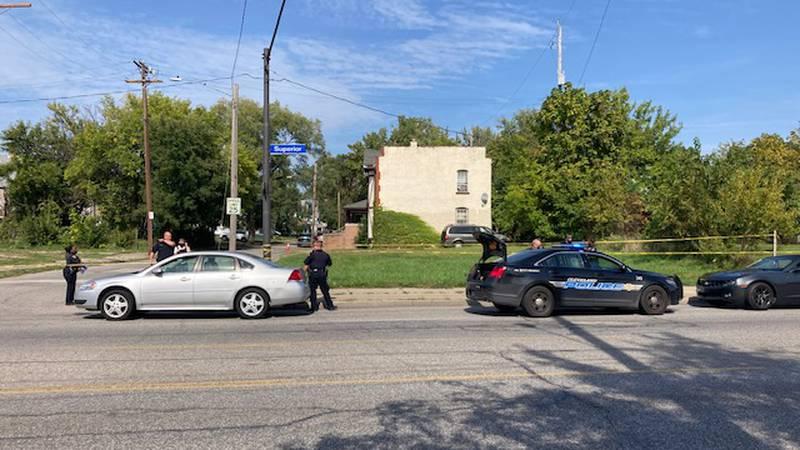 Shooting scene near Superior Avenue
