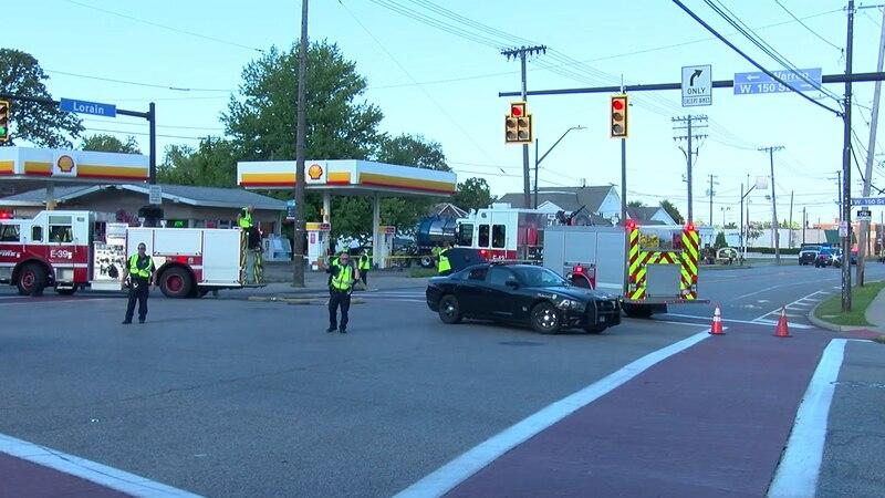 Lorain Avenue shut down after fuel leak