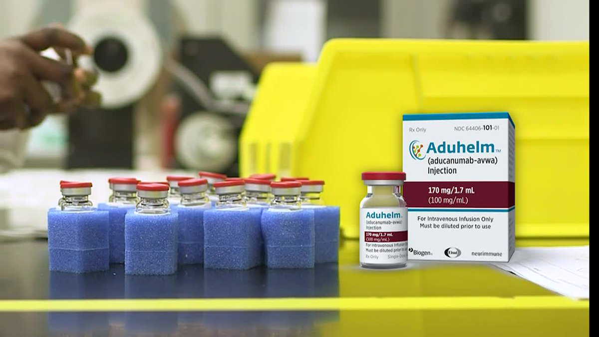 Aducanumab, or Aduhelm, is the first new medication approved for Alzheimer's in almost two...