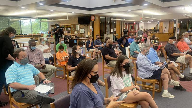 Parents turned out to Hoover High School for a board meeting Wednesday evening to push for a...