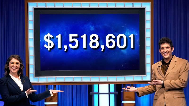 Northeast Ohio Jeopardy! contestant Matt Amodio's 38-game win streak ends with $1,518,601