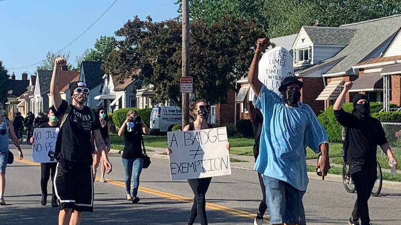 Hundreds peacefully marched on Cleveland's West Side June 2, 2020.