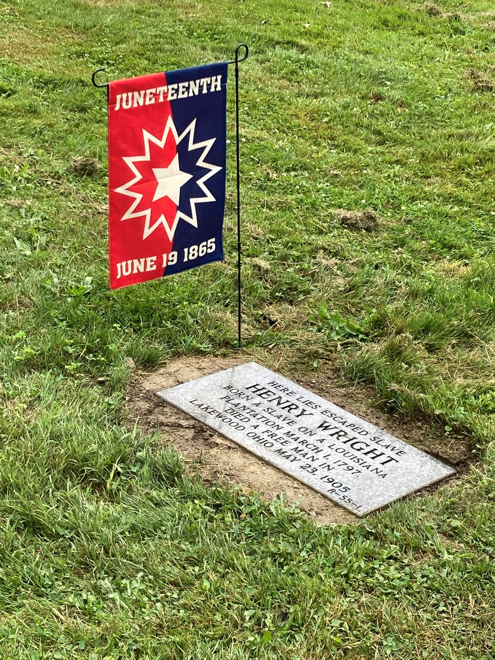 Henry Wright's grave received a marker 116 years after his death.