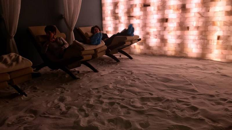 Room used for salt therapy, believed to help skin and respiratory problems (Source: WOIO)