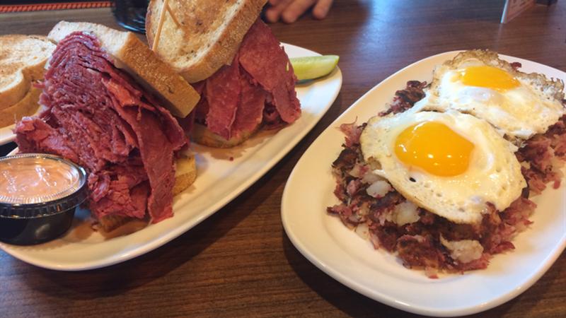 Slyman's Tavern serves up corned beef hash. (Source WOIO)