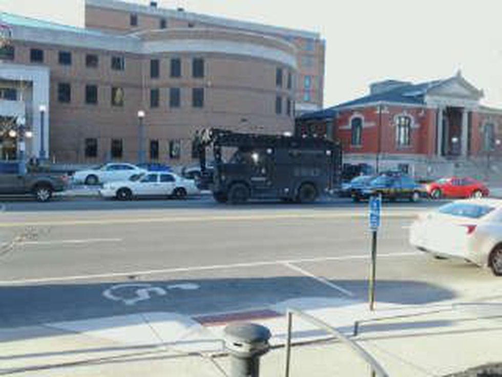 SWAT on the scene of hostage situation at Trumbull County jail. (Source: 19 Action News Viewer)