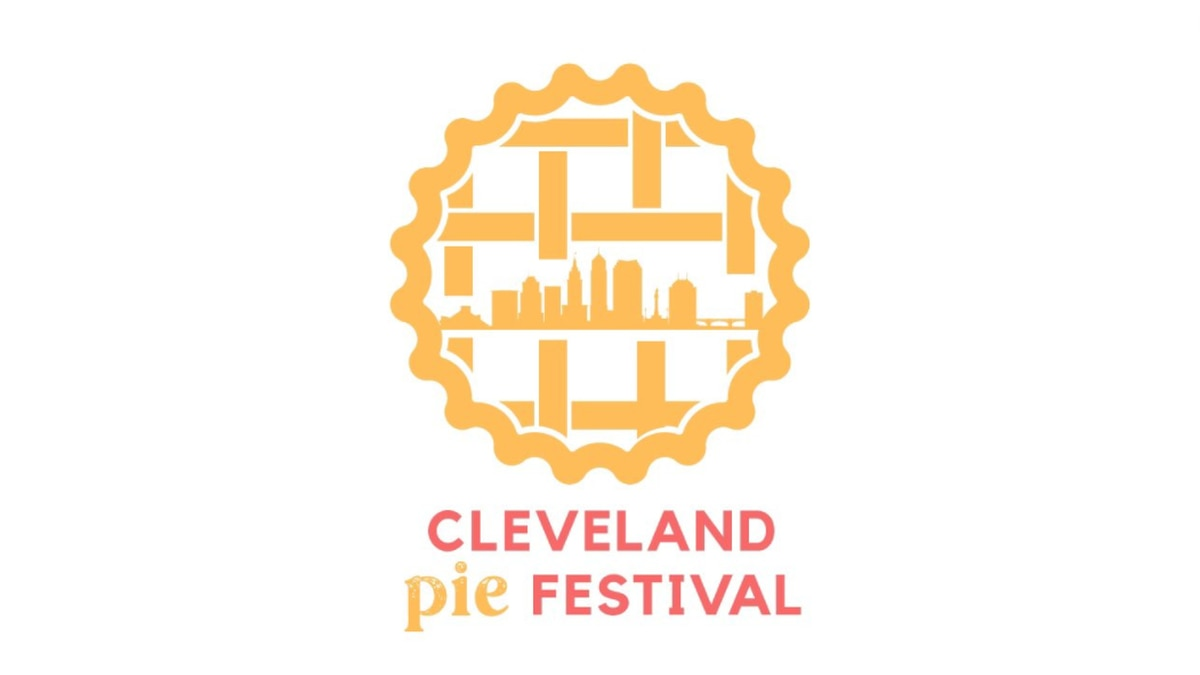 This photo shows the logo for the Cleveland Pie Festival, created by Chief of Branding Jenika...