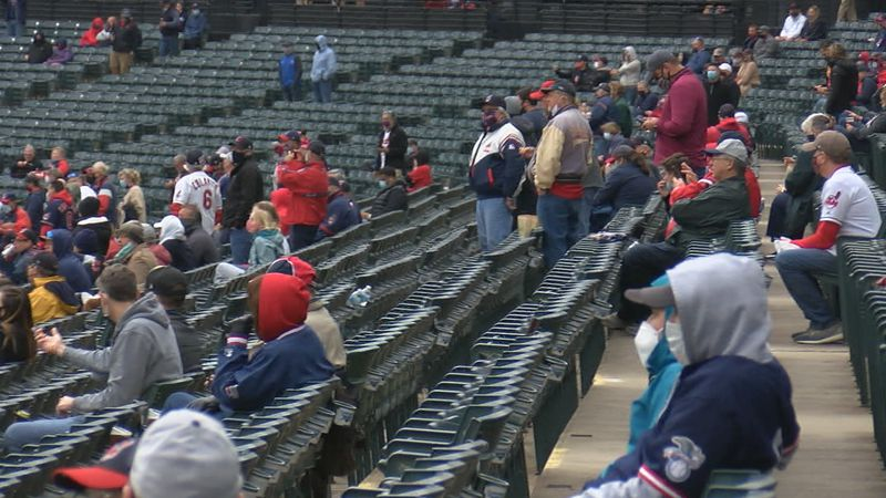 Thousands of fans made their way to Progressive Field for opening day Monday and although the...