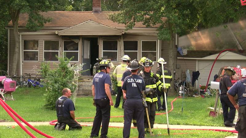 West Side house fire injured
