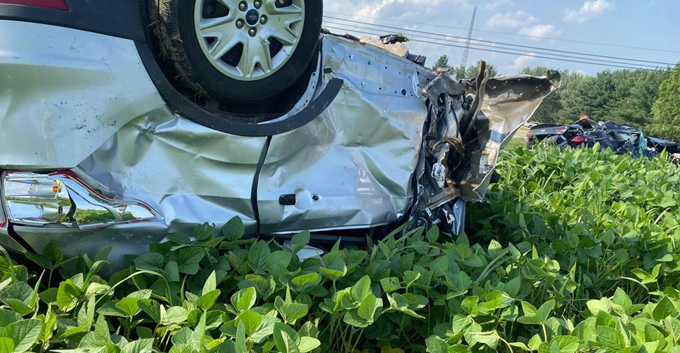 Four people died in a two-car crash Thursday afternoon in Stark County.