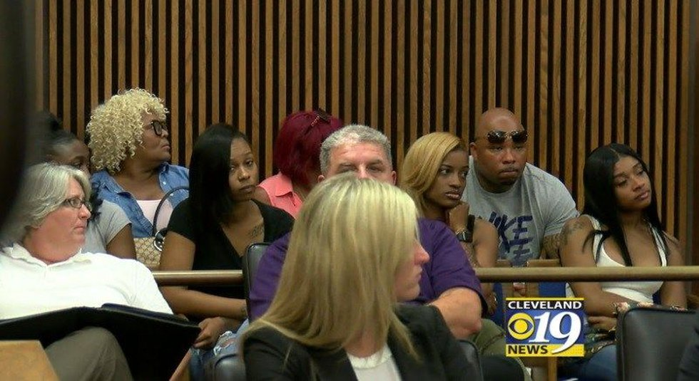 Major Howard's mother and other family members at Donnell Lindsey's sentencing. (Source: WOIO)