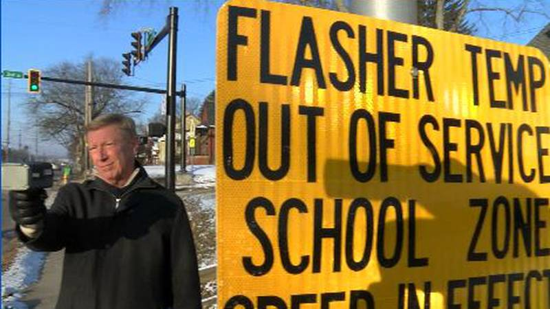 Drivers ignoring signs that replaced flasher that is out in Barberton school zone.