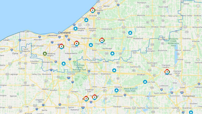 Nearly 6,000 First Energy customers in Cuyahoga County were without power Sunday after storms...