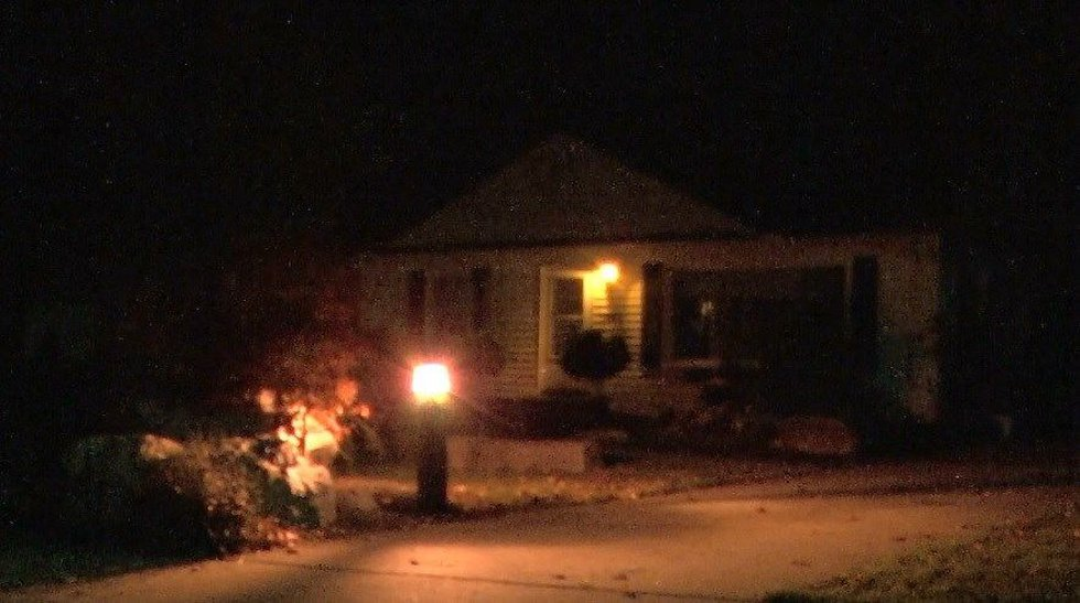 Graphic Halloween display on Dentzler Rd. removed in Parma. (Source: WOIO)