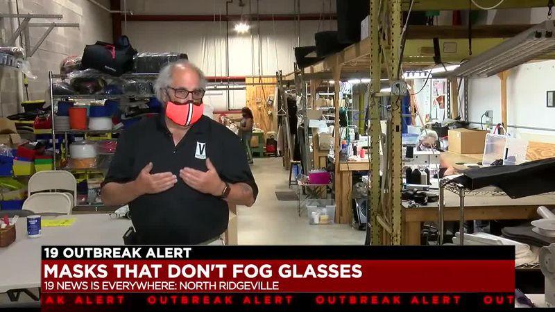 North Ridgeville man invents no-fog masks