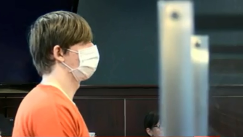 Zachary Blosser at July 30 competency hearing