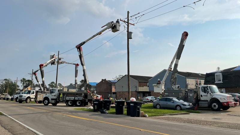 FirstEnergy line workers assist in the recovery after Hurricane Ida hit Louisiana