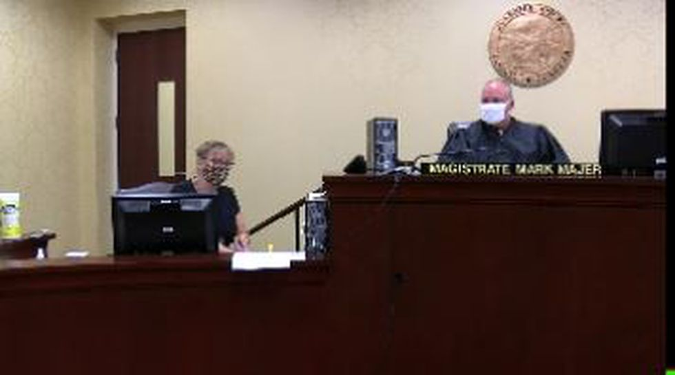 15-year-old appears in court on Sept. 9, 2020.