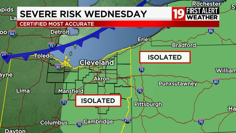 FIRST ALERT DAY WEDNESDAY: Best risk of severe storms all week