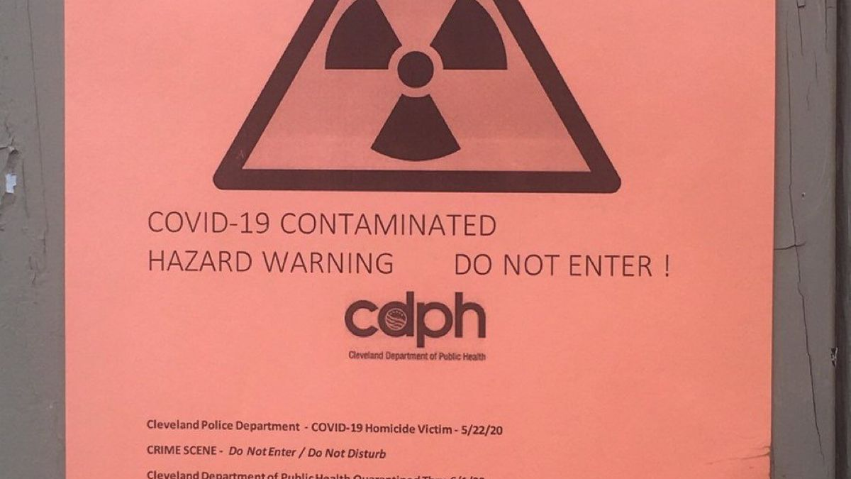 CDPH shows posts photo of fake flyers popping up around Cleveland
