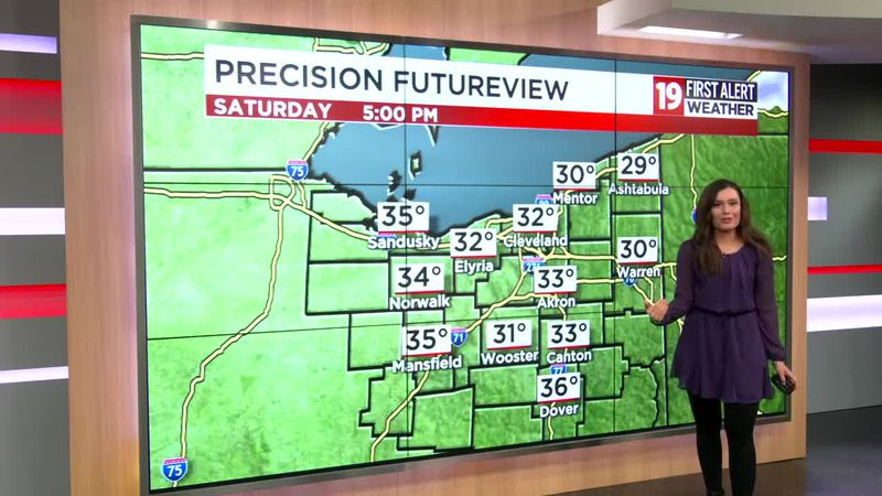 Northeast Ohio weather: Cold weekend ahead; significant warming next week