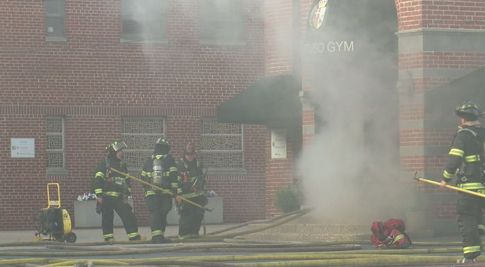 Cleveland fire crews battle blaze at St. Rocco's Parish gymnasium