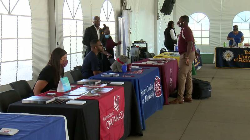 The Pro Football Hall of Fame hosted a college fair aimed at showcasing historically Black...