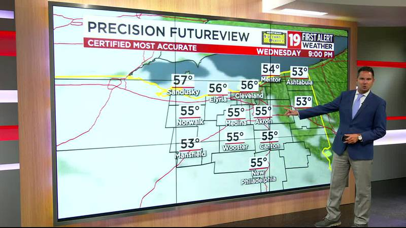 Northeast Ohio weather: Windy, chilly on Tuesday today with drizzling showers
