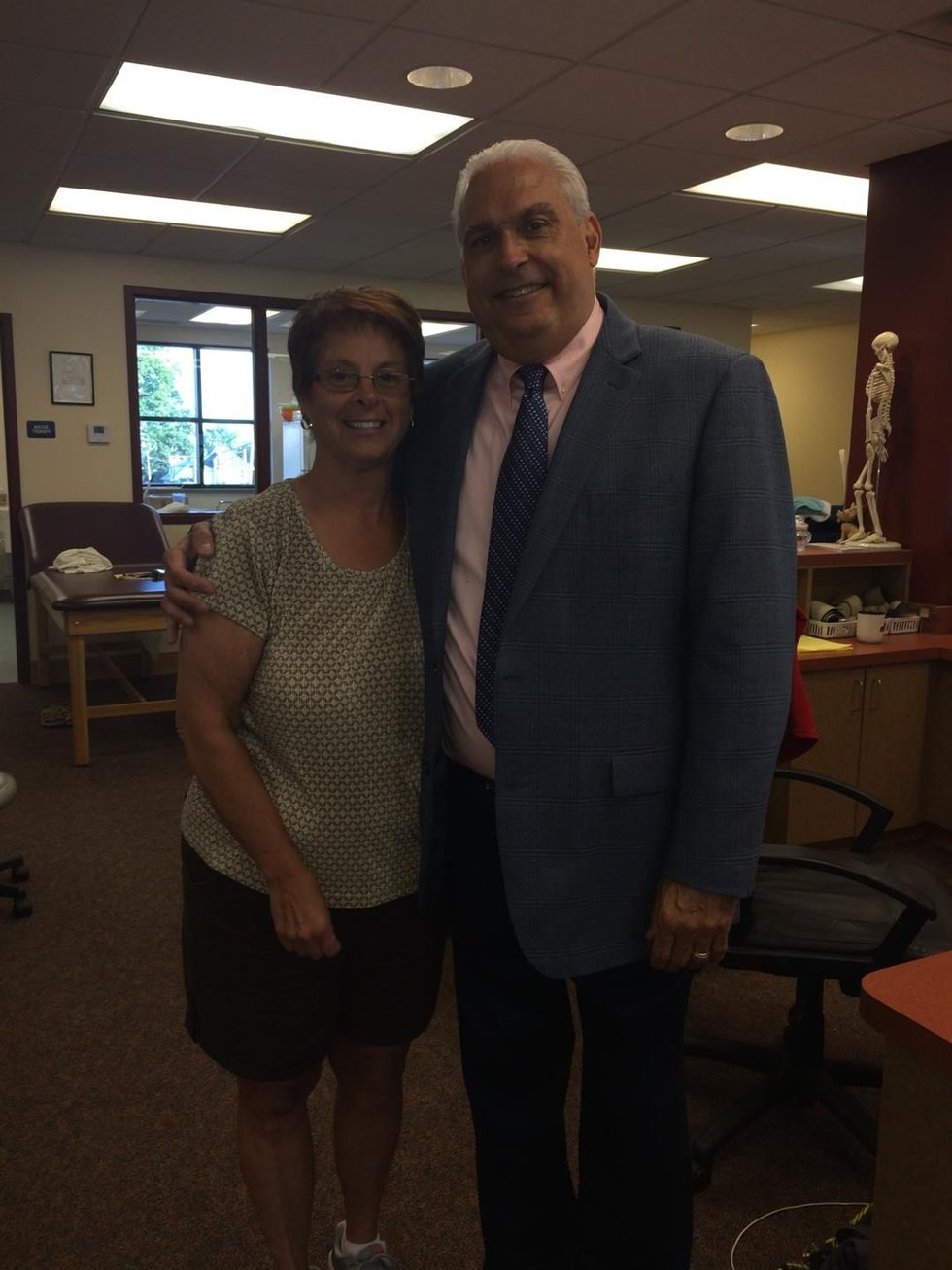 Lynn Fast was Dr. Roger Palutsis' first patient to get the new implant. (Source: WOIO)