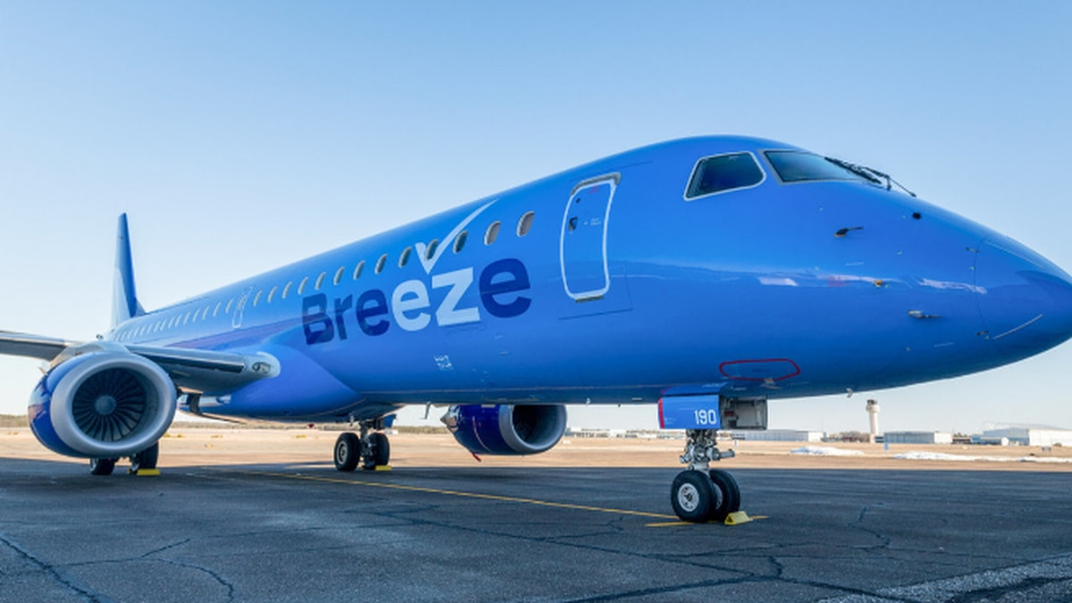 Akron-Canton Airport adds nonstop flights to Charleston, New Orleans, Tampa with Breeze Airways
